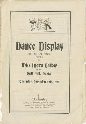 Programme, Dance Display; Telegraph Print Napier; Dallow, Moira; 2015/24/25