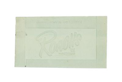 Advertising card, Roachs Ltd Hastings