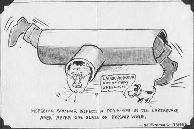 Cartoon, Inspector Sinclair; Simmons, Noel F; 2015/31/2