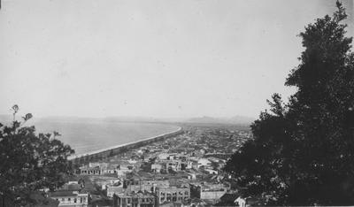 Business area of Napier from Bluff Hill