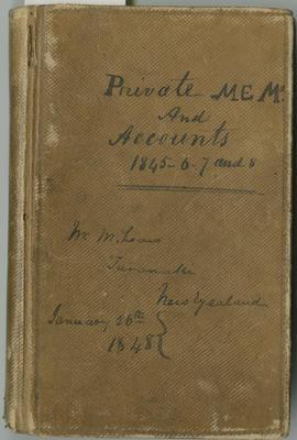Account book, Donald McLean