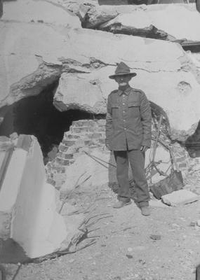 An unidentified New Zealand Army soldier, Napier
