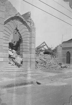 Hastings Wesley Methodist Church after the earthquake
