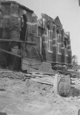 St Paul's Presbyterian Church, Napier destroyed in the earthquake