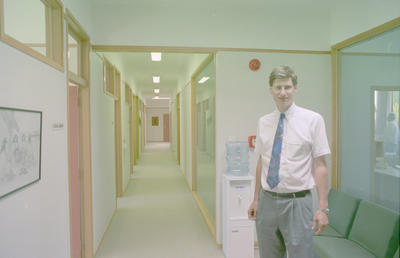 David Ironside stands in the Community Correction Centre's passage