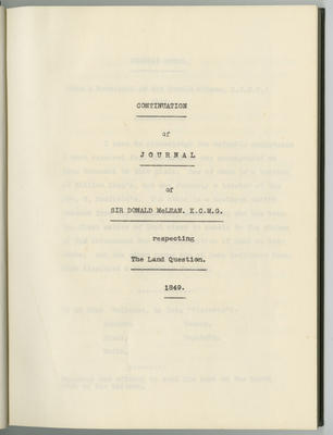 Copy of continuation of journal