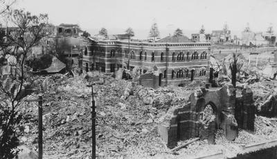 St John's Cathedral, Napier after the 3 February 1931 earthquake