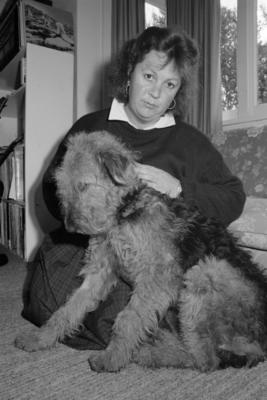 Louise Bevin and Tess, Dog Attack, Taradale