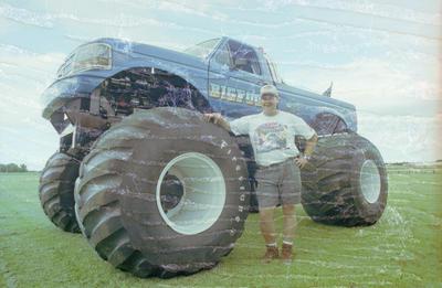Bigfoot driver Kirk Frankish