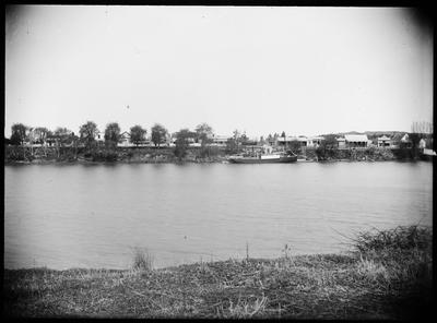 Wairoa township from the river; Duncan, Russell