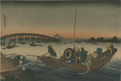 Onmayagashi yori Ryôgoku-bashi no sekiyô o miru; Hokusai, Katsushika; 87/44/2