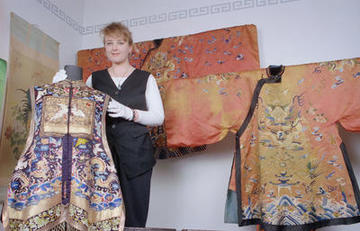 Roxanne Fea and Chinese Robes