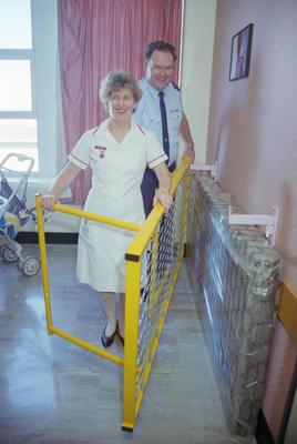 Senior Constable Stan Simmonds and Gill Holder, Napier Hospital