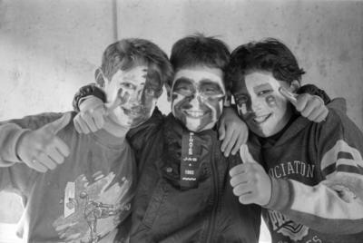 Richmond School Pupils at Rugby Game, McLean Park, Napier