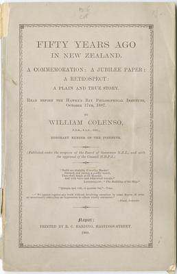 Booklet, Fifty Years Ago in New Zealand