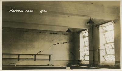 Earthquake damage, Napier Technical Institute, 1931; Savage, Richard; 2016/12/3