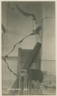 Earthquake damage, Napier Technical Institute, 1931; Savage, Richard; 2016/12/7