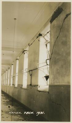 Earthquake damage, Napier Technical Institute, 1931; Savage, Richard; 2016/12/8