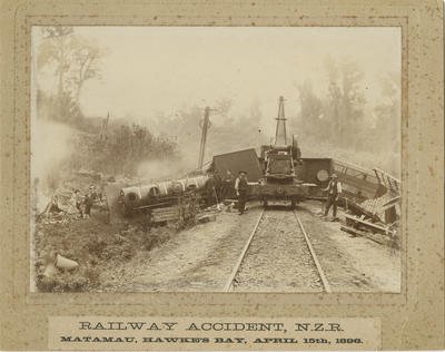 Railway Accident, NZR, Matamau, Hawke's Bay