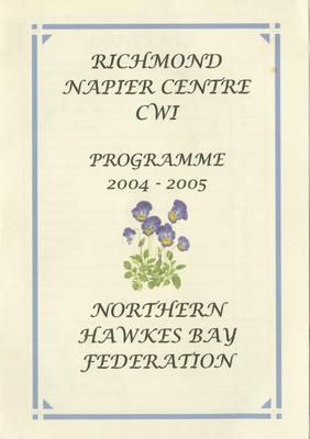 Programme, Richmond Napier Centre CWI, 2004-2005