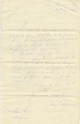 Letter, V H Dupree