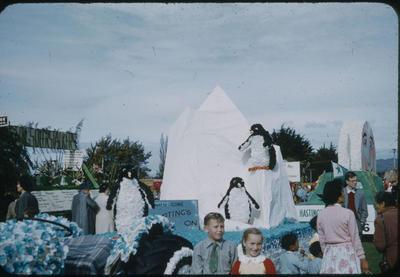Hastings Blossom Festival, skating penguins float