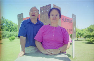 Des Langigan and Awhina Waaka, Hukarere Māori Girls School, Napier