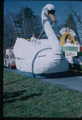Hastings Blossom Festival, Ross, Dysart and McLean and Wattie's Silver Jubilee floats