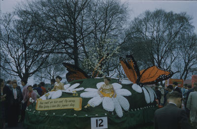 Hastings Blossom Festival, spring flowers and butterflies float