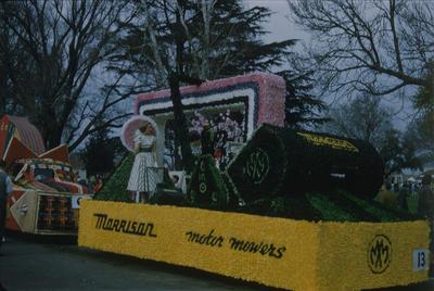 Hastings Blossom Festival, Morrison Motor Mowers float