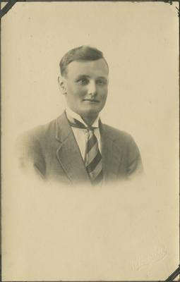 Postcard portrait of an unidentified man