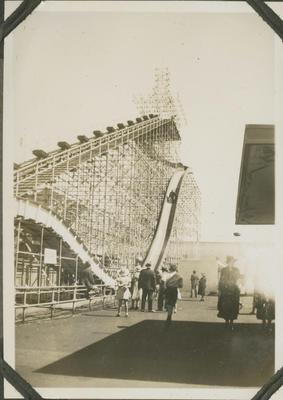 Roller coaster at the New Zealand Centennial Exhibition