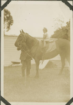Child on a horse