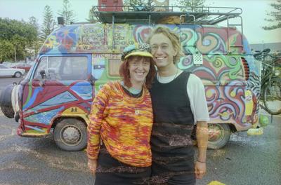 Tourists Nick Langer and Heike Montreal