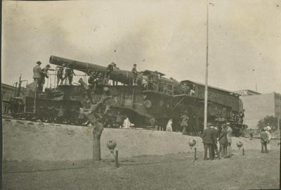 Krupps field gun on display, Sydney