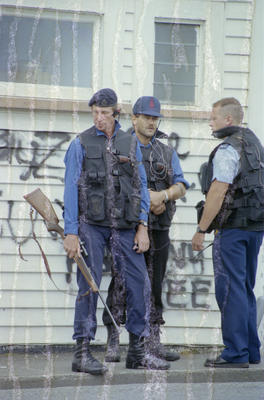 Armed Offenders Squad Members, Hostage Drama, Faraday Street, Napier