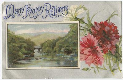 Postcard, Many Happy Returns