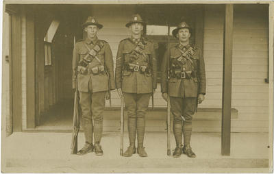 Roy McKay and two others from the Mounted Rifles Brigade