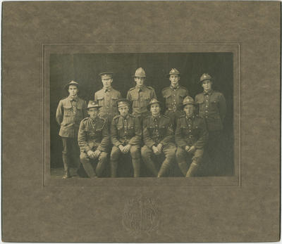 Mounted photograph, New Zealand soldiers, World War One