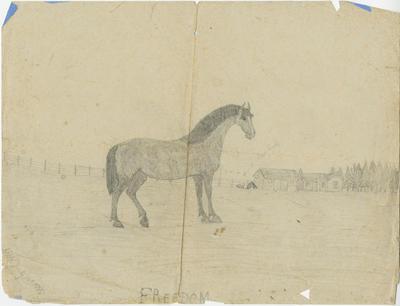 Pencil sketch, Freedom; Webb, Alice Frances
