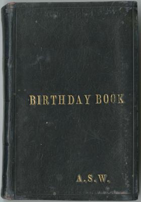 Birthday Book, Anthony Spurr Webb