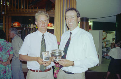 Sport Champions, Paul Lowes and Scott Briasco representing Central Districts cricket team