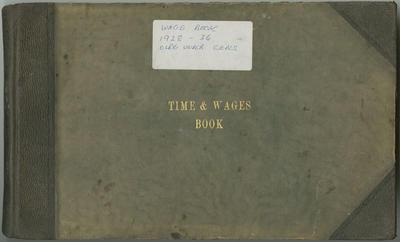 Wage Book, Olrig Station 1928-1936