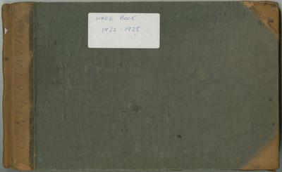 Wage Book, Olrig Station 1922-1928
