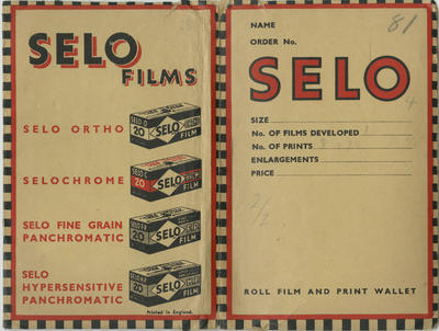 Photographs and postcards in Selo envelope