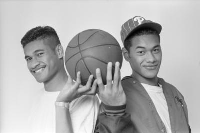 Hawke's Bay Hawks Basketball Players Johnny and Janeiro Seumanu