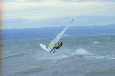 Windsurfer Carson Finnemore, Westhore Beach