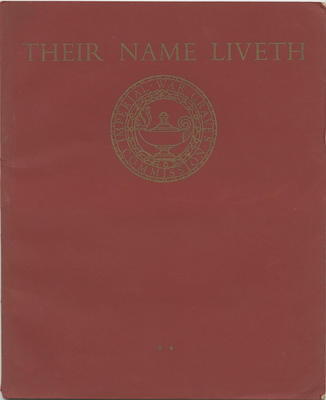Their Name Liveth; Imperial War Graves Commission; 2018/9/68