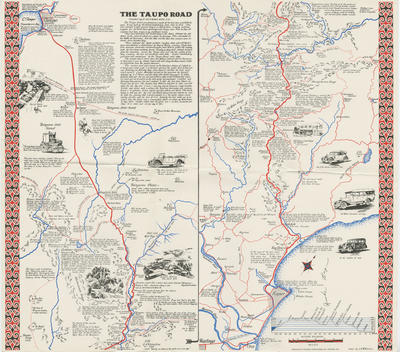 Map, The Taupo Road; Pictorial Publications Ltd; Bell, Robert Moore; Wilkinson, Colin; 2018/9/72