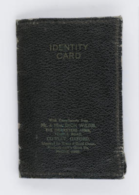 Identity Card holder and contents